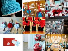 More red and blue wedding stuff!
