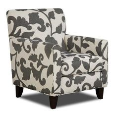 Chelsea Home Furniture FS702-C Bergen Accent Chair in Talbot Onyx