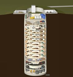Missile silo stacked living