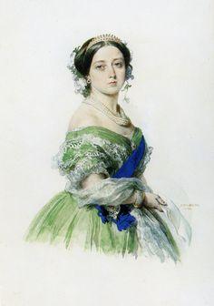 Franz Xavier Winterhalter (1805-1873) Queen Victoria