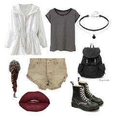 """""""School Chic"""" by elayna-kaylor on Polyvore featuring One Teaspoon, MANGO and Dr. Martens"""