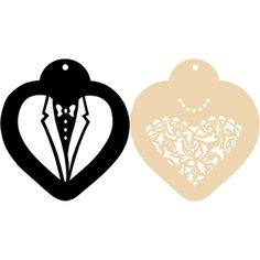 Bride and Groom Heart Cookie Stencils $10.95