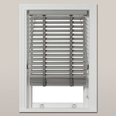 Buy John Lewis Croft Collection FSC Wood Venetian Blind, 50mm, Blue Grey Online at johnlewis.com