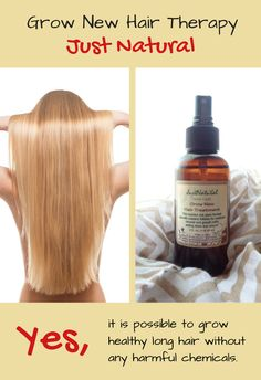 Encourage your hair to grow healthy without any harmful chemicals.