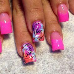 nail art designs & pink french nail