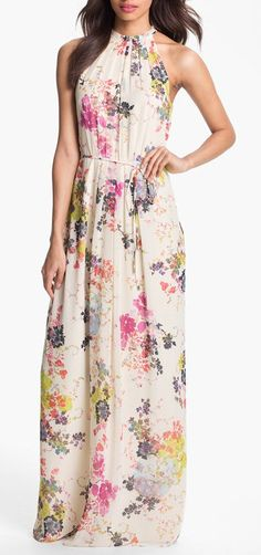 Summer bloom maxi dress