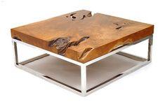 echtholzmöbel quadratisch beitelltisch naturholz