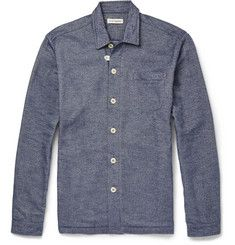 Oliver Spencer LoungewearLounge Lux Cotton-Flannel Overshirt