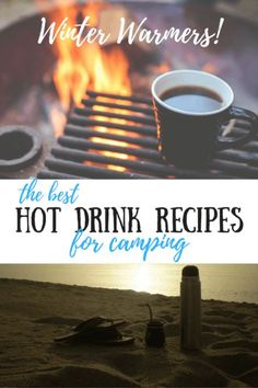 If you've got outdoor adventures planned for this winter, you need this easy hot drink recipes! They make camping, hiking, and skiing so much more fun! Camping Drinks, Camping Meals, Camping Hacks, Camping Recipes, Camping Cooking, Camping Activities, Camping Kitchen, Camping Store, Fire Cooking