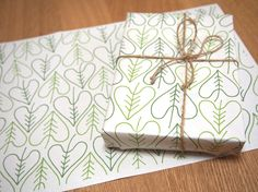 Heartic leaf wrapping paper! #heart #leaf #love #paper #wrapping #gift wrapping #wrapping paper #pattern design