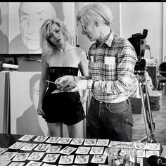 Debbie Harry & Andy Warhol -1980. Photo by Chris Stein. Debbie in her Autoamerican cover outfit! :)