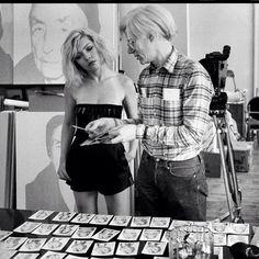 Debbie Harry & Andy Warhol -1980. Photo by Chris Stein.