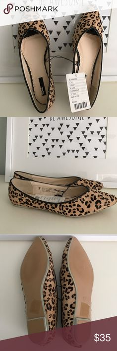 NEW Leopard Urban Outfitters Flats New with tags!! Never worn. Pointed, leopard print flats. Leather upper. Sold by Urban Outfitters. Urban Outfitters Shoes Flats & Loafers