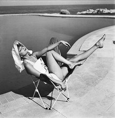 Audrey Hepburn sunbathing, by Charles Dambier. | from my tum… | TOSHIO Y | Flickr