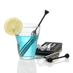 Icestick Cooling Stick // Set Of 2 Silicone Ice Stick Tray The Icestick is an elegant way to cool your drinks without watering them down. This set of two includes a silicone mold to make perfectly sized ice. Design3000, Shops, Employee Gifts, Silicone Molds, Party Time, Barware, Tray, Ice, Cool Stuff