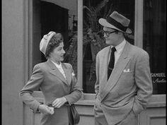 """Phyllis Coates as Lois Lane & George Reeves as Clark Kent in """"Adventures of Superman"""""""