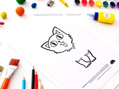 Printable Cat Template
