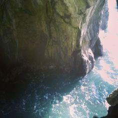 Beautiful sea cave in Praia Formosa #Madeira