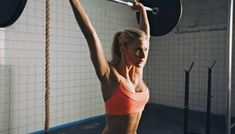 Woman doing crossfit barbell lifting by jacoblund. Strong woman lifting barbell as a part of crossfit exercise routine. Fit young woman lifting heavy weights at gym. Weight Lifting Workouts, Weight Training, Training Workouts, Weight Exercises, Body Workouts, Interval Training, Fitness Workouts, Fitness Tips, Fitness Transformation