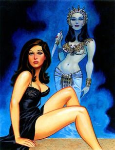 : A little bit of various in the morning III Comic artist Bruce Timm takes on Valerie Leon in Blood from the Mummy's Tomb. Bruce Timm, Horror Films, Horror Art, Gothic Horror, Comic Book Artists, Comic Artist, Comic Books, Valerie Leon, Hammer Films