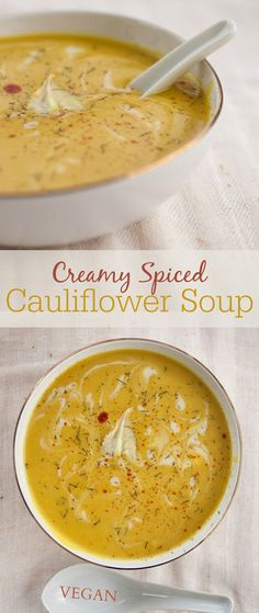Creamy Spiced Cauliflower Soup News. I'm never eating cauliflower in any other form from now on. Nope. Only in this exact soup, as it's too good to waste cauliflower on anything else. If you've been looking for an extraordinary cauliflower soup recipe you've come to the right place. I don't mean to brag but...ohmygod.