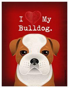I Love My Bulldog  I Heart My Bulldog  I Love by DogsIncorporated, $20.00