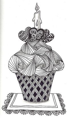 Zentangle: Cupcake