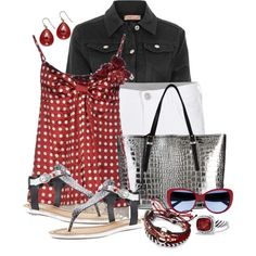 """""""Red, White and Black"""" by cathy0402 on Polyvore"""