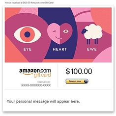 Amazon Gift Card - Email - Eye Heart You  Amazon Price: $100.00 $100.00 (as of February 26, 2016 22:08 - Details). Product prices and availability are accurate as of the  Read more http://cosmeticcastle.net/gift-cards/amazon-gift-card-email-eye-heart-you  Visit http://cosmeticcastle.net to read cosmetic reviews