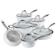 Lagostina Bianco Cookware Set With Bonus Wok 11 Pc Canadian