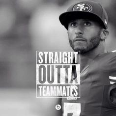 Seahawks 49ers Kaepernick  Oh. My. Straight OUTTA Teammates