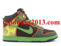 De La Soul RARE baroque brown altitude green Nike Dunk High Top Pro SB Free Shipping