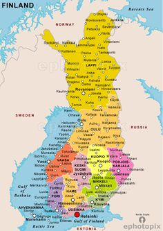 Map of Finland Where is Finland located at? In Europe What country is Finland? Finland is a Republic. Is Finland an expensive country? Yes, Finland, like all Sc Finland Map, Finland Travel, Norway Map, Helsinki, Geography Map, Country Maps, Cartography, Countries Of The World, Stockholm