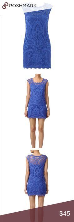 Nicole miller sheath dress Gorgeous Nicole miller a heather dress. Blue purple color. Slip under neath, zipper in back. Worn once. Nicole Miller Dresses Mini