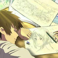 HD wallpaper: brown haired male anime character illustration, Kimi no Na Wa Anime Love, Anime Guys, Manga Anime, She And Her Cat, Kimi No Na Wa Wallpaper, Your Name Anime, Tamako Love Story, Anime Lindo, Image Manga