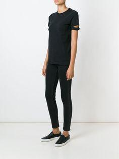 Helmut Lang cut-out sleeve T-shirt
