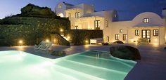 GREECE CHANNEL | pool area/  Aegean Blue in Santorini, Cyclades, Greece