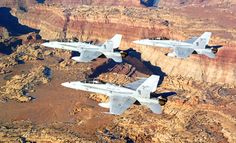 The twin-engine F/A-18 Hornet is an all-weather, carrier-capable, multi-role fighting jet.