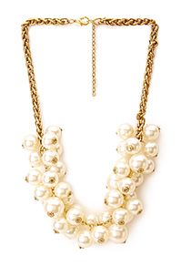 I wear my pearl cluster necklace all the time! This one is less than $13