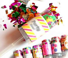 5 pieces  Mini Push Type Fireworks Can and scrap paper Wedding Decoration Brithday Party Accessories16051810
