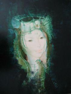 Endre Szász January 1926 - 18 August was a Hungarian graphic artist, printmaker, illustrator, muralist and ceramics decorator Water Nymphs, Teal Blue, Printmaking, Mythology, Fairy Tales, Princess Zelda, Portrait, Hungary, Illustration