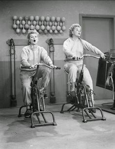 """""""I Love Lucy"""" ~ Lucy and Ethel (Lucille Ball and Vivian Vance). Lucille Ball, Spin Class Humor, Spin Quotes, Class Quotes, I Love Lucy Show, Vivian Vance, Spin Instructor, Fitness Motivation, Spinning Workout"""