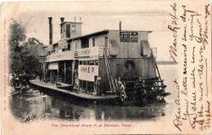 1906 Steamboat Annie P Denison Texas Postcard