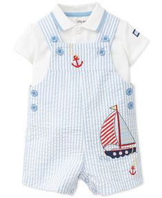 Shop for Baby Boy (0-24 months) online at Macys.com. Baby boy is warm-weather ready in this adorable overall outfit from Little Me, complete with a preppy polo in a breezy maritime theme.