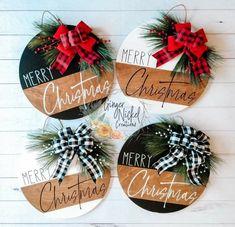 Christmas Craft Fair, Christmas Door, Christmas Signs, Christmas Projects, All Things Christmas, Winter Christmas, Holiday Crafts, Holiday Fun, Christmas Wreaths