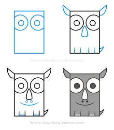 How to draw a rhino