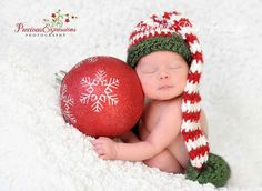 Expecting a Christmas Baby??? This listing is for a Custom Made Santas Little Helper Stocking Cap! (Not ready to ship) It is hand-crafted with ultra-soft acrylic yarn in a smoke-free home. Choose from sizes: (unstretched hat measurement) Newborn 13 0-3 Months 14 3-6 Months 15