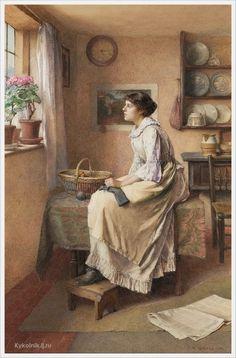 Charles Edward Wilson (British, 1854 -1941) «In time of war»