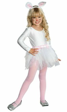 Rubies Toddler Girls White Easter Bunny Rabbit Halloween Costume Ballerina Tutu - Easter clothing ideas / kids holiday fashion (Includes: Headband with ears, Tutu with tail, Leotard & Tights) Bunny Costume Kids, Bunny Halloween Costume, Rabbit Halloween, Clever Halloween Costumes, Rabbit Costume, Toddler Costumes, Kid Costumes, Children Costumes, Party Costumes