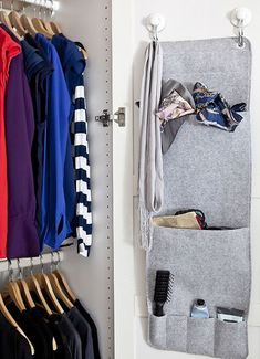 Use a hanging organiser to maximise storage without taking up any extra floorspace #IKEAIDEAS
